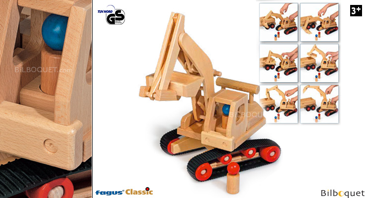 Excavator - Wooden Toy Fagus Wooden Toys