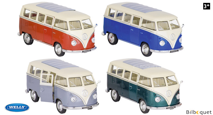 Volkswagen T1 (1963) - Model Car with Pullback Motor - 1:32 Welly