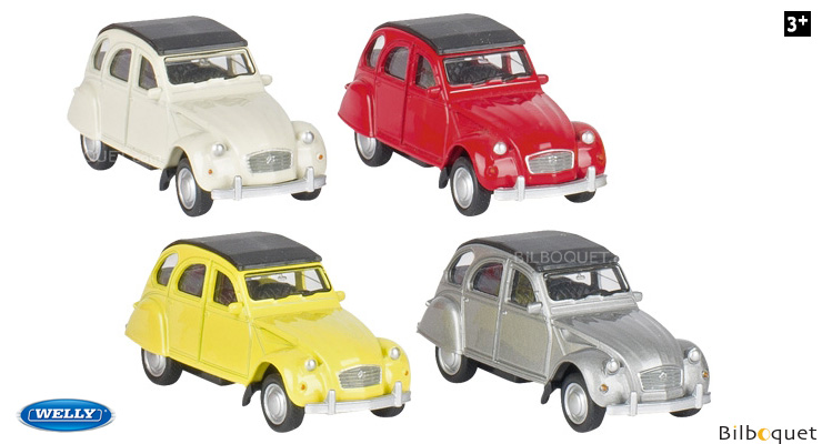 Citroën 2CV - Model Car with Pullback Motor - 1:60 Welly