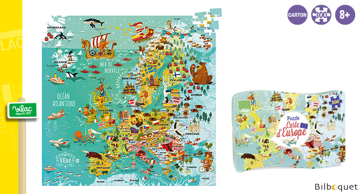 Europe Map Puzzle 300 pieces Vilac