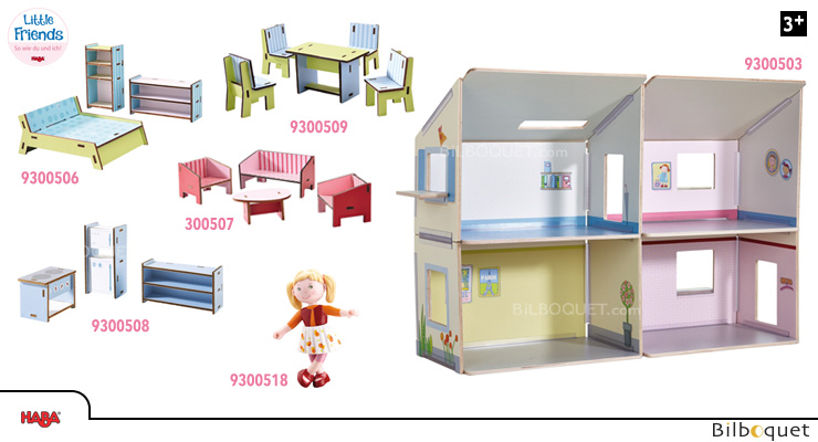 OFFER Dollhouse Villa Sunshine + furniture - Little Friends Haba