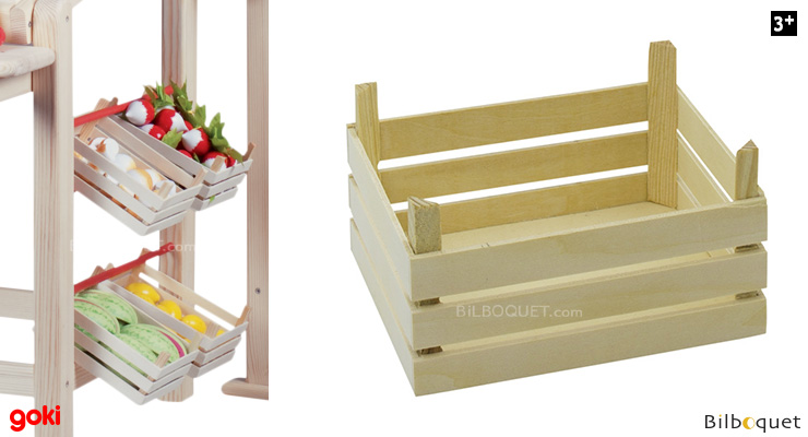 Empty crate for fruits and vegetables Goki