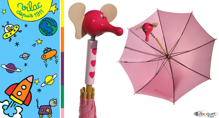 Fanfan the elephant umbrella Vilac