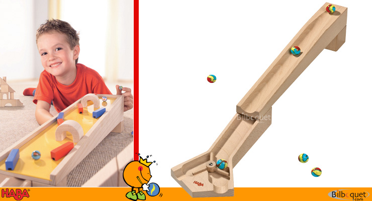 Left/right track for ball track set Haba