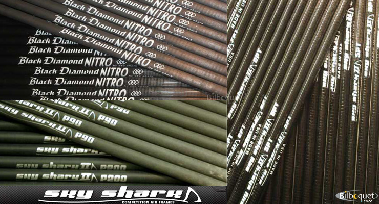 Skyshark PT series Tapered carbon tube 5PT/100cm Sky Shark Air Frames