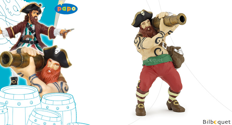 Pirate au canon Papo