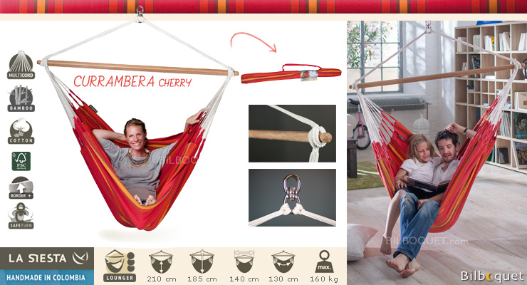 Currambera lounger hammock chair Cherry La Siesta Hammocks