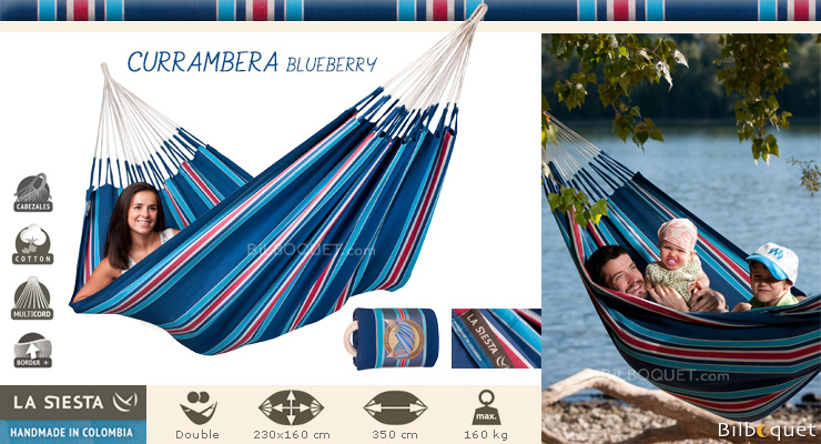 Currambera hammock for 2 persons blue La Siesta Hammocks