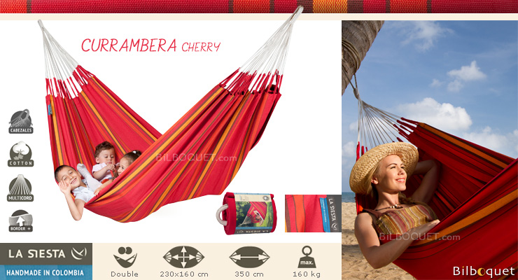 Currambera hammock for 2 persons red La Siesta Hammocks