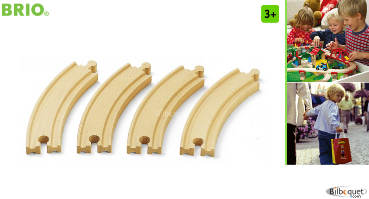Large curved tracks (4) BRIO