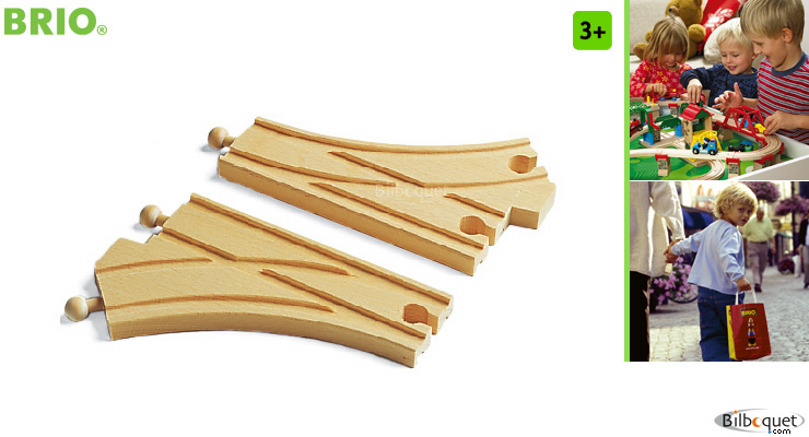Curved switching tracks (2) BRIO