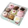 Set of 9 petits fours Haba