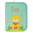 Health book cover with embroidered first name (series 1) Rabbit