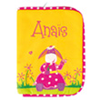 Health book cover with embroidered first name (series 1) Donkey