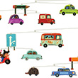 Automobiles - Mobile pour chambre d'enfant Little Big Room by Djeco