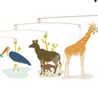 Mobile The African Savannah Little Big Room by Djeco