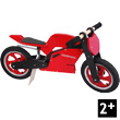 Superbike Red Wooden Balance Bike Kiddimoto