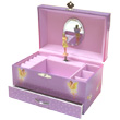 Musical jewelry box with drawer Trousselier