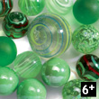 Green cube of 24 marbles Djeco