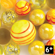 Yellow cube of 24 marbles Djeco