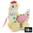 Cotcotte hen Wooden pull-along toy
