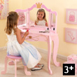 Princess pink Vanity and stool KidKraft