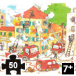 Firemen art puzzle (Laure Cacouault) 50 pieces