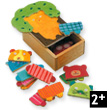 Soft toy tree mini wooden puzzle Djeco
