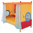 Matti Canopy Bed with coloured head and foot