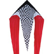 Red Op Art Flo-Tail Delta Single-line Kite Premier Kites & Designs