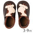 Soft sole Chocolate giraffe baby shoes Bobux