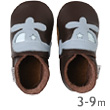 Baby soft sole Chocolate helicopter shoes Bobux