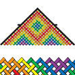 Rainbow Mesh Delta 11' Single Line Kite Premier Kites & Designs