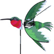 Hummingbird Bird Balcony Spinner 61x61cm Premier Kites & Designs