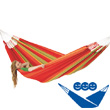 Red Flora Family Hammock (organic cotton) La Siesta Hammocks