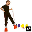 Hand-held string stilts (pair of)