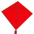 Classic Hata Fighter Kite Red