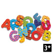 Magnetic's 38 fancy wooden letters Djeco