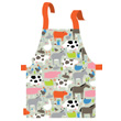 Oilcloth Apron for kids - At the farm Petit Jour