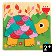 Multicoloured Turtle Wooden Puzzle Djeco