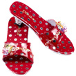 Inès Red Heeled Mules Souza for kids