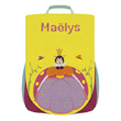 Back bag with embroidered first name - Queen Ladybug