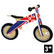 Union Jack Kurve Wooden Balance Bike Kiddimoto