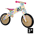 Pastel Dotty Kurve Balance Bike for kids