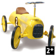 Yellow Metal Car ride-on toy Vilac