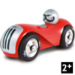 Wooden Lacquered Red Streamline Car Vilac