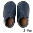 Soft sole Navy classic dot Baby shoes Bobux