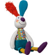 Doudou Jef le lapin - Peace & Love la Happy Farm Ebulobo