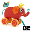 Indy Elephant - Wooden Pull-along toy Djeco