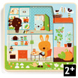 Rabbit cottage - 3 layers wooden puzzle Djeco
